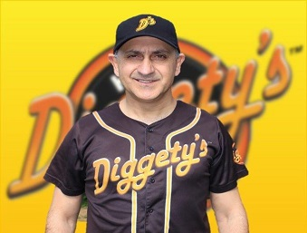 Diggety's Hot Dogs staff, Mike is the Second Baseman