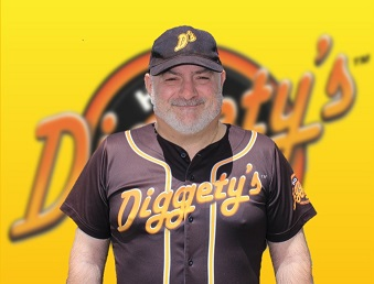 Diggety's Hot Dogs staff, Tass is the Catcher